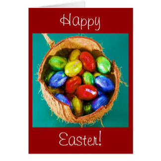 Easter Eggs in Basket Stationery Note Card