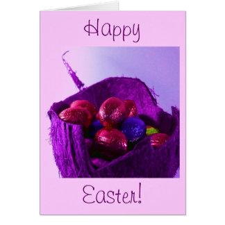 Easter Eggs in Basket V Greeting Card