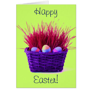 Easter Eggs in Basket XIII Greeting Card