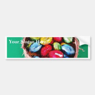 Easter Eggs In Coconut Car Bumper Sticker