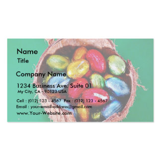 Easter Eggs In Coconut Business Card