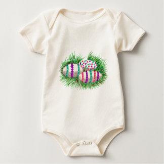 Easter Eggs in Grass Baby Bodysuit