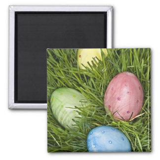 Easter Eggs in Grass Fridge Magnets