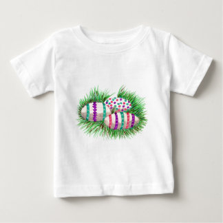 Easter Eggs in Grass Infant Toddler Baby T-Shirt