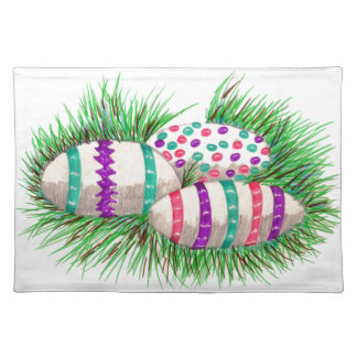 Easter Eggs in Grass Placemat