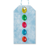 Easter eggs in line gift tags