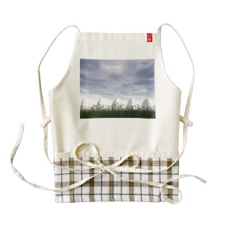 Easter eggs in nature by cloudy day - 3D render Zazzle HEART Apron