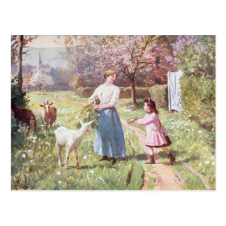 Easter Eggs in the Country, 1908 Postcard