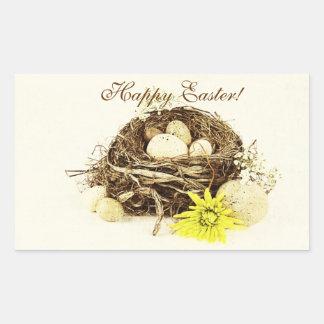 Easter eggs in the nest - Happy Easter! Rectangular Sticker