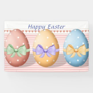 Easter Eggs Indoor Decorating Banner
