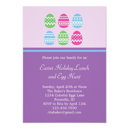 Easter Eggs Invitation