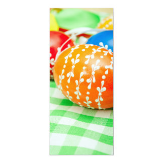 Easter eggs 4x9.25 paper invitation card