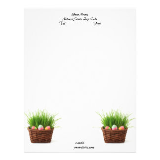 Easter Eggs Letterhead