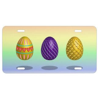 Easter Eggs License Plate