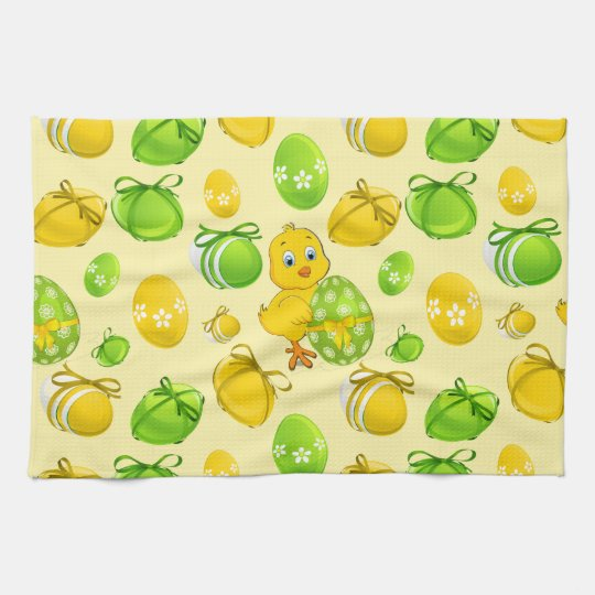 Easter Eggs Little Chicken Pattern Hand Towel Awesome Ideas