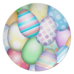 Easter Eggs Melamine Plate