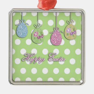 Easter eggs metal ornament