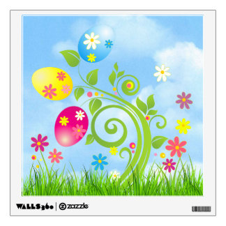 Easter Eggs on a Vine Wall Decal