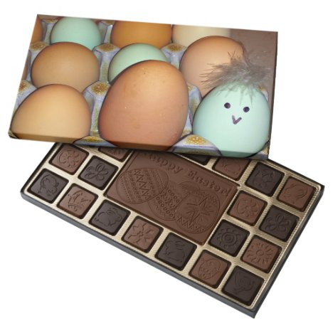 Easter Eggs on Chocolate Box