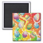 Easter Eggs Ornamental Design 2 Inch Square Magnet