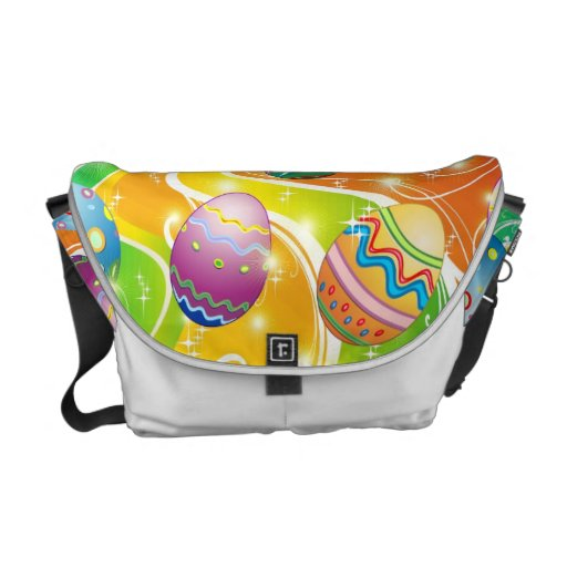 Easter Eggs Ornamental Design Messenger Bags