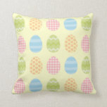 Easter Eggs Pastel Patterns pillow