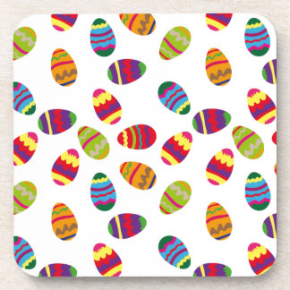 Easter eggs pattern drink coaster