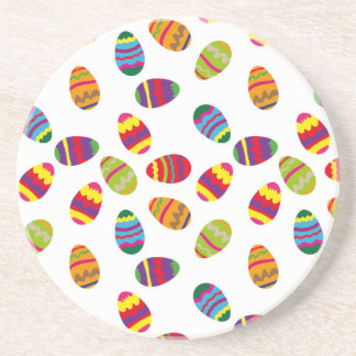 Easter eggs pattern sandstone coaster