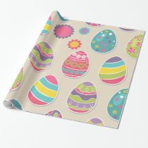 Easter eggs pattern wrapping paper