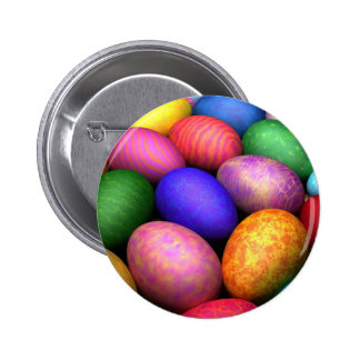 Easter eggs pinback button