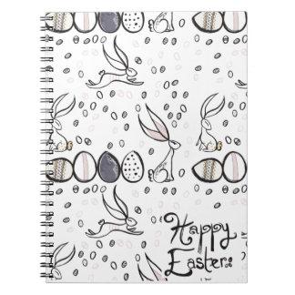 Easter eggs & rabbit notebook