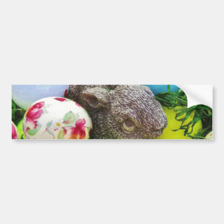 Easter Eggs, Rabbit , pastel colored Golf Balls Bumper Sticker
