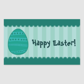 Easter Eggs Rectangle Stickers