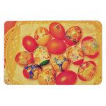 Easter eggs rectangular magnet