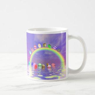 Easter Eggs Ride on a Rainbow Coffee Mug