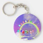 Easter Eggs Ride on a Rainbow Keychains