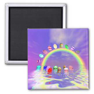 Easter Eggs Ride on a Rainbow Magnet