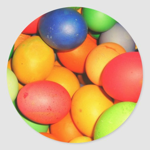 Easter Eggs Round Stickers