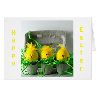 """EASTER EGGS SAY """"HAPPY EASTER"""" FAMILY/FRIENDS CARD"""