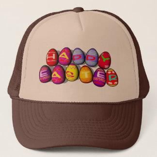 EASTER EGGS SPELLING HAPPY EASTER TRUCKER HAT