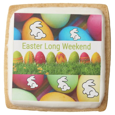 Easter Eggs Square Shortbread Cookie
