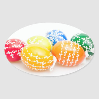 Easter Eggs Oval Stickers