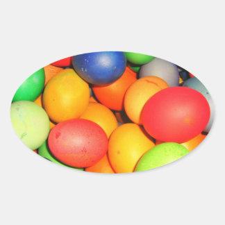 Easter Eggs Oval Sticker