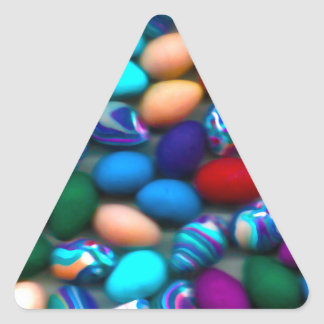 Easter Eggs Triangle Sticker