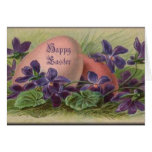 Easter Eggs & Violets Greeting Card
