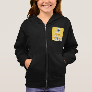 Easter Eggs With Bows Girls Hoodie