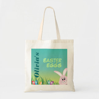 Easter Eggs with Bunny Personalized Tote Bag