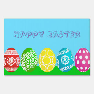 Easter Eggs Yard Sign
