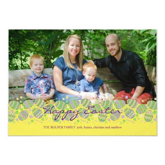Easter Eggstravaganza Photo Easter Card