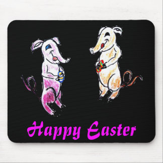 Easter Elephants Mouse Pad